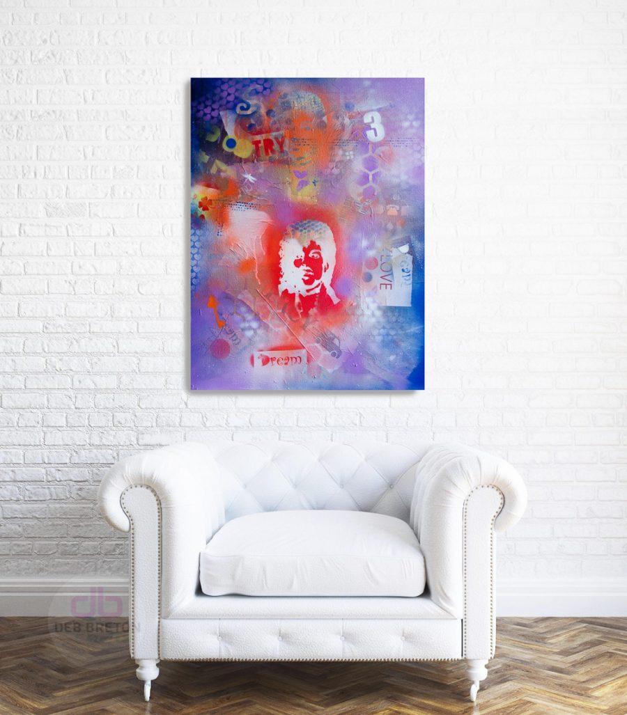 pop art PRINCE purple Rain Painting