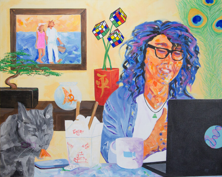 screen time - colorful painting