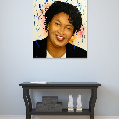 Stacey Abrams Portrait Painting
