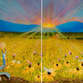 Large Landscape Painting – Commissioned Diptych