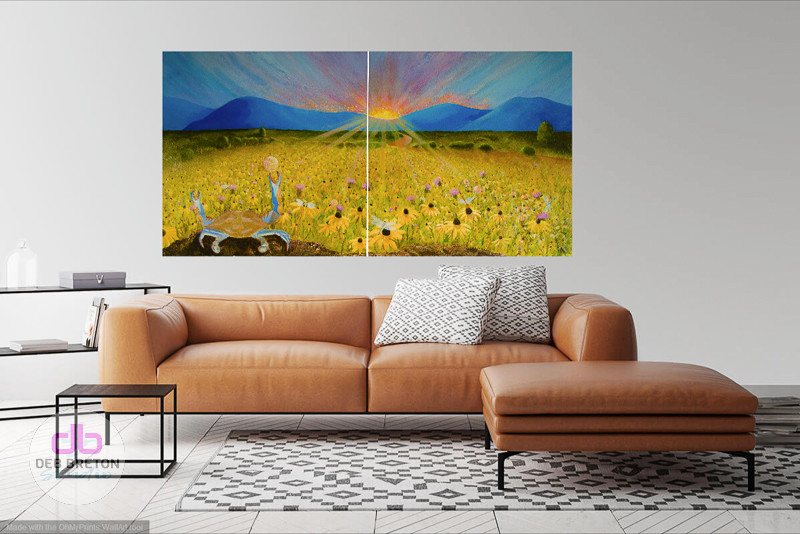 large landscape painting in situ