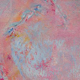 Take Flight – Small Abstract Painting in Pink Colors