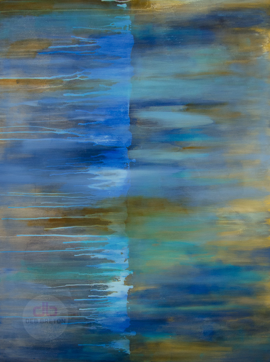 Take Me Away Abstract Painting on Gallery Wrap Canvas
