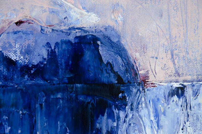 The Thaw - details of palette knife scrape