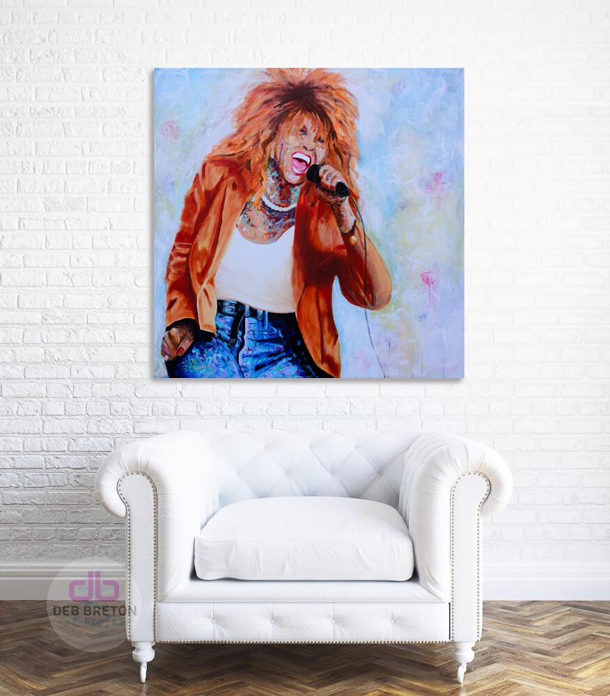 Tina Turner portrait in situ