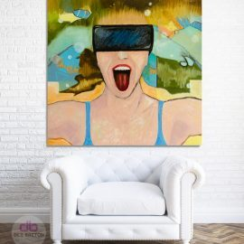 Virtual Dream – Large expressive painting
