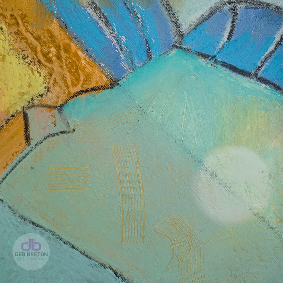 close-up of painting - sgraffito