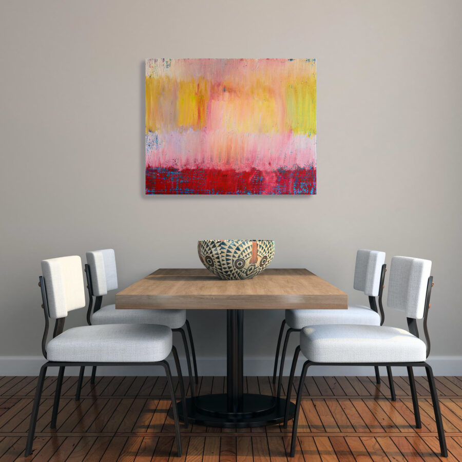 painting in dining area