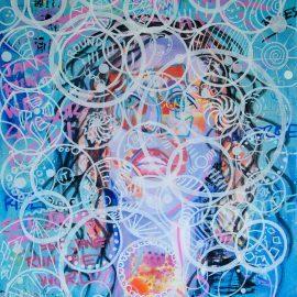 Pop Art expressive portrait painting