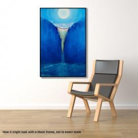 Blue Moon mountain landscape painting