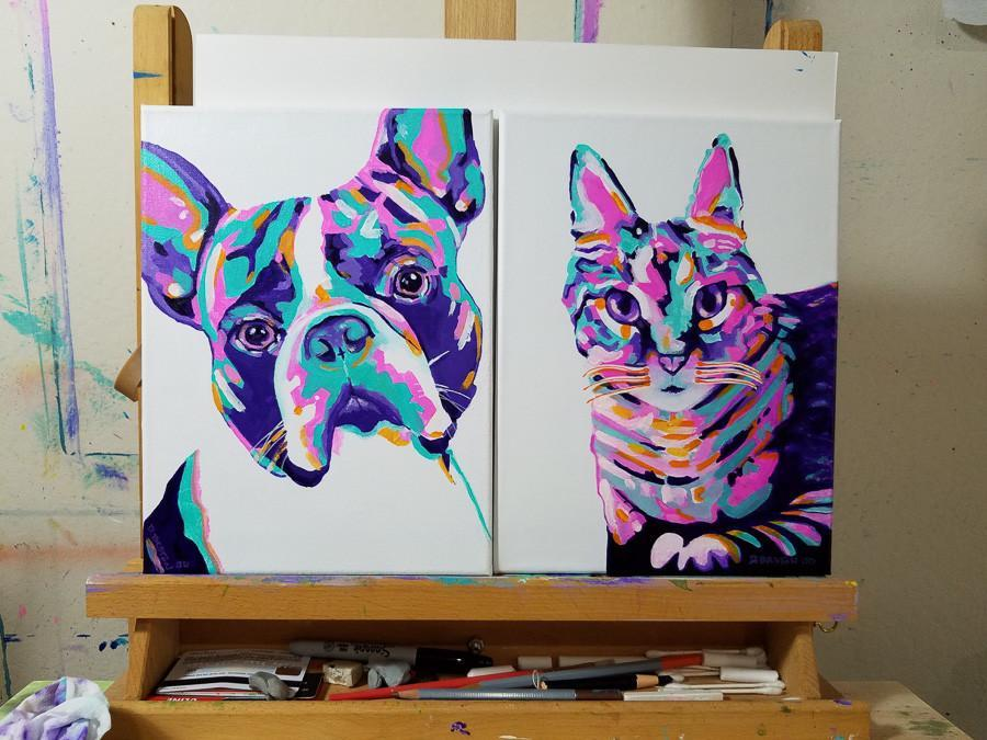 dog and cat painting donation