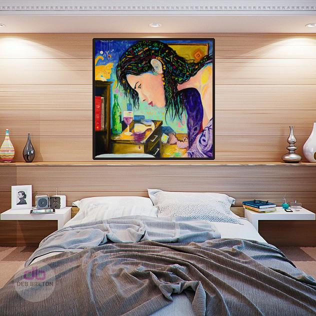 date night painting in bedroom