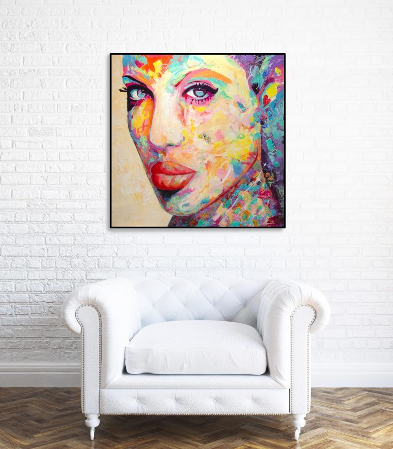 COLORFUL Portrait painting art