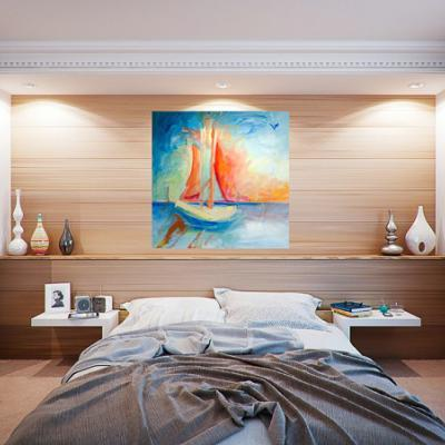 Large Sailing Painting