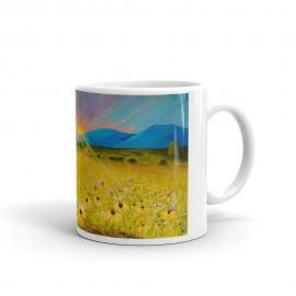 Sunset Over the Mountains with Crab – My Souls Joy -Mug