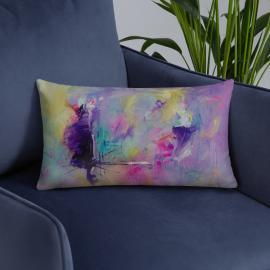 Vortex of Thought – Colorful Art Print Pillow