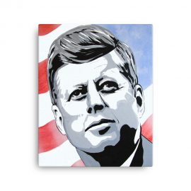 JFK Art Print on Canvas