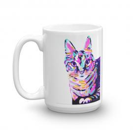 Colorful Cat – Art Print Mug