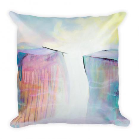 On the Precipice – Landscape Art Print Pillow