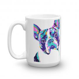 Colorful Dog – Boston – Terrier Art Mug