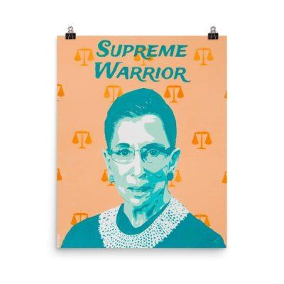 RBG Portrait Poster – Ruth Bader Ginsburg Art Poster