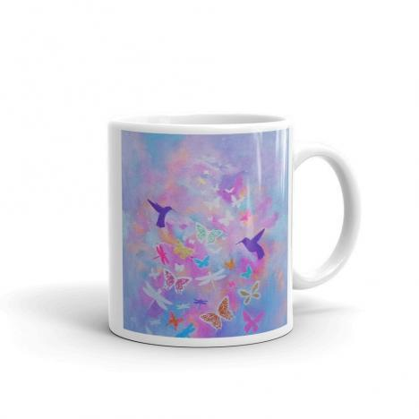 Butterflies Hummingbirds and Dragonflies – Beautiful Art Mug