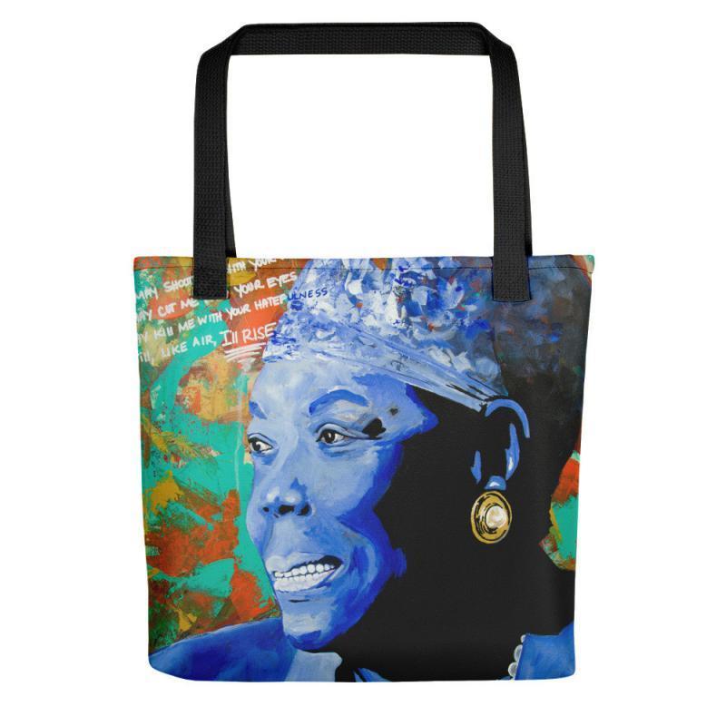 maya angelou art print bag