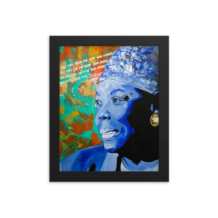 maya angelou framed art print