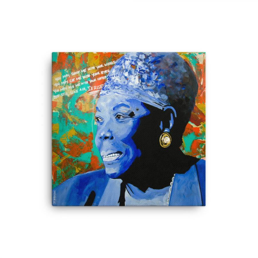 maya angelou art print on canvas
