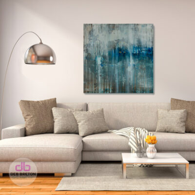 On The Horizon – Square painting on canvas