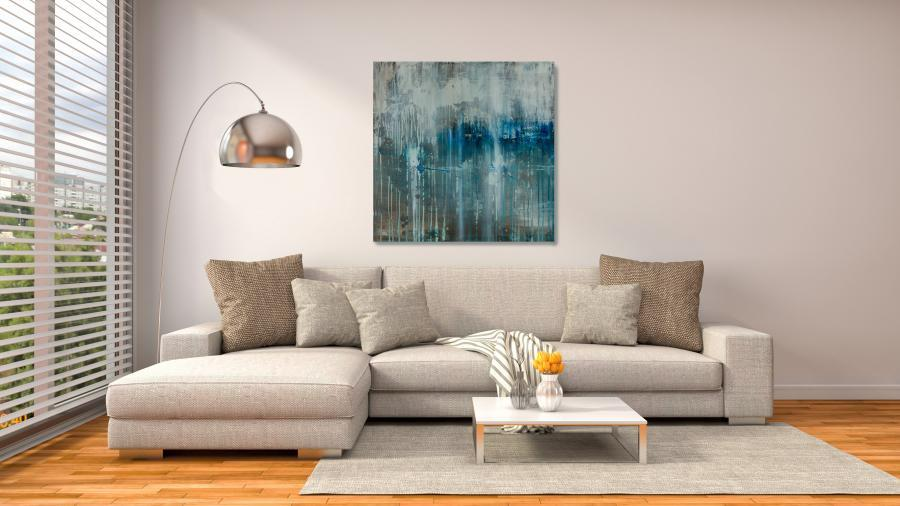 original modern art painting in home interior