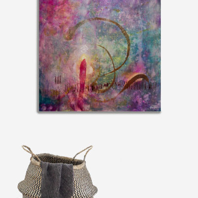 Peace Within -Spiritual Art – AUM – Painting