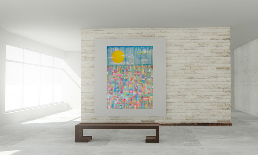 """Large 48"""" x 36"""" Abstract Painting"""