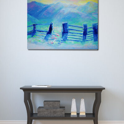 Landscape painting on canvas