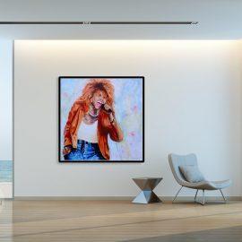 Tina Turner Portrait Painting