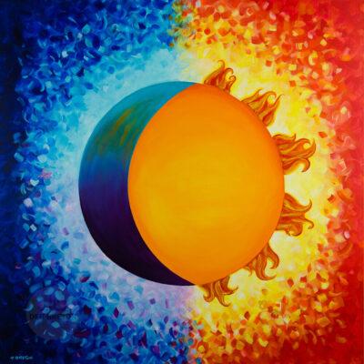 Sun and Moon – Custom Large Painting