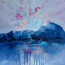 As above So below – landscape mountain painting